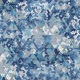 Китайская ткань Велюр Prisma 780 (синяя)