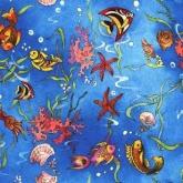 Детская ткань (Голубые рыбки)