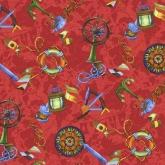 Детская ткань (Красные якоря)