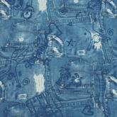 Детская ткань (Синий джинс)