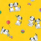 Детская ткань (Желтые далматинцы)